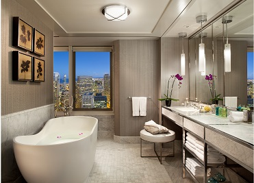 Eight Decadent Hotel Bathrooms To Hang Out In!